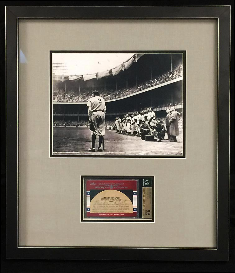 Image of: Babe Ruth Signed Autograph 2011 Leaf Sport Icons Signnature Photo BGS 9.5 (PWCC)