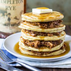 BBQ Pulled Pork Breakfast Pancakes