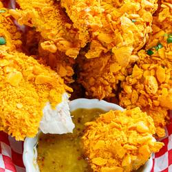 Crispy Baked Cheddar Chicken Tenders Recipe