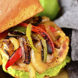 Chicken Fajita Cheeseburgers Recipe