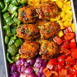 Sheet-Pan Honey Chili Chicken Recipe