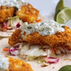 Crispy Coconut Lime Baked Cauliflower Tacos Recipe