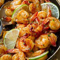 Garlic Honey Lime Shrimp Recipe