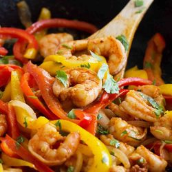 Skillet Shrimp Fajitas Recipe