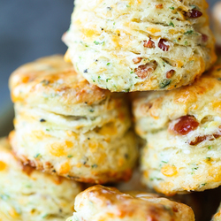 BLACK PEPPER CHEDDAR BACON BISCUITS Recipe