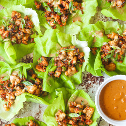 PEANUT CHICKEN LETTUCE WRAPS Recipe