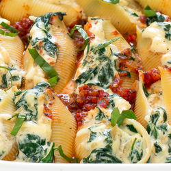 Spinach and Ricotta Stuffed Shells Recipe