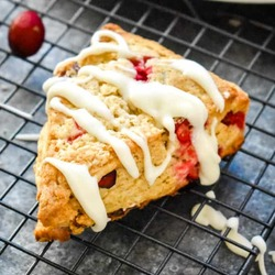 Cranberry Vanilla Bean Scones Recipe