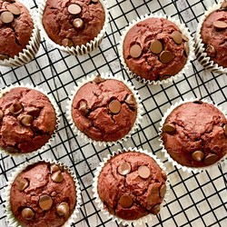 Chocolate Beetroot Muffins Recipe