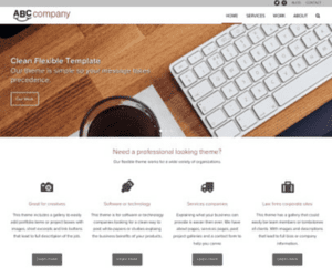 semi custom WordPress website