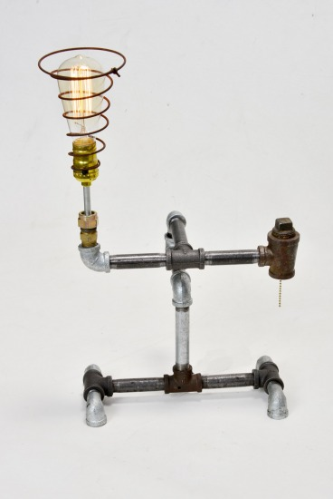 Industrial desk lamp, Steam Punk desk lamp