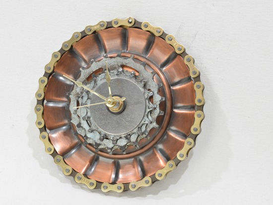 Industrial style clock, Steam Punk style, unique, one-of-a-kind, art