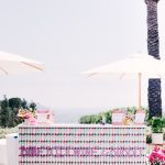 Lalaland summer colorful pool party with Barefoot Wine and Bubbly styled by RO and Co. Events