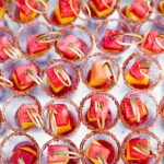 Fun colorful festive pool party Palm Springs wedding celebration designed by RO & Co. Events