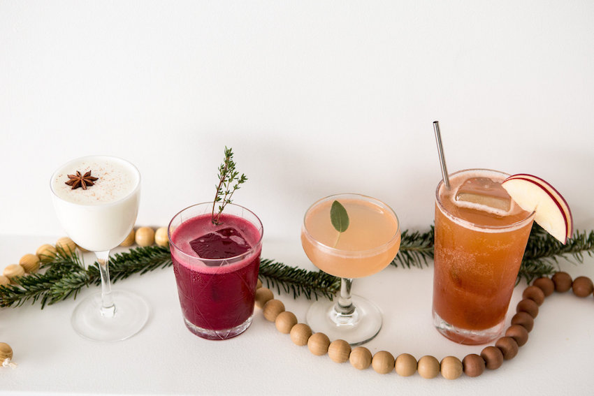 Holiday cocktail shoot inspiration with Viva La Rock music agency designed by RO and CO Events