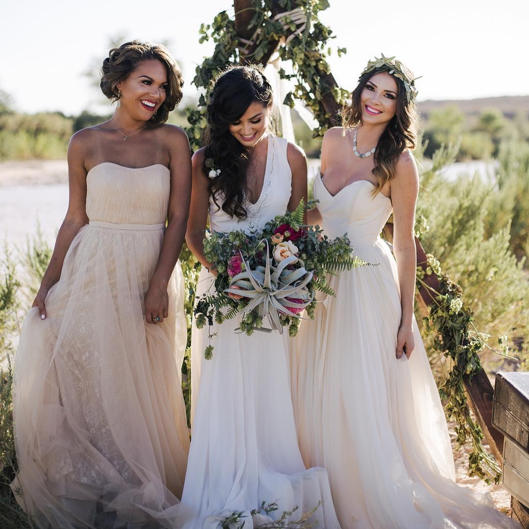 Modern bridesmaid dresses for all budgets that youll actually tulle and chantilly ombrellifo Choice Image