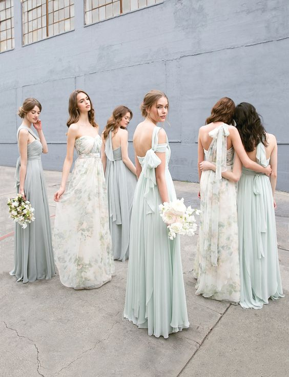Modern bridesmaid dresses for all budgets that youll actually want romantic and soft with a touch of sophistication is the name of the game with jenny yoo m4hsunfo