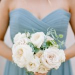 blue bridesmaid dress and bouquet RO & Co. Events Destination Wedding Planner