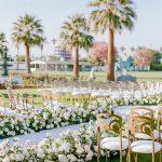 Wedding ceremony floral aisle Empire Polo Club RO & Co. Events Destination Wedding Planner
