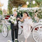 Wedding Ceremony horse and carriage bride Empire Polo Club RO & Co. Events Destination Wedding Planner