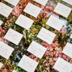 Wedding escort cards calligraphy floral RO & Co. Events Destination Wedding Planner