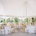 Wedding reception tablescape design tent Empire Polo Club RO & Co. Events Destination Wedding Planner