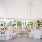 Wedding reception tablescape design tent Empire Polo Club RO & Co. Events Destination Wedding Planner