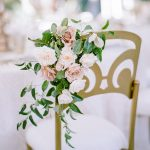 chameleon chair Wedding floral detail RO & Co. Events Destination Wedding Planner