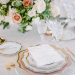 Wedding tablescape design place setting Casa de Perrin RO & Co. Events Destination Wedding Planner