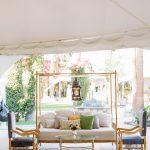 Wedding lounge furniture vignette Empire Polo Club RO & Co. Events Destination Wedding Planner