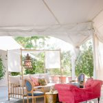 Wedding lounge furniture vignette Empire Polo Club RO & Co. Events Destination Wedding Planner