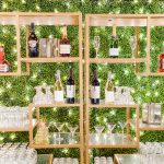 Wedding reception bar twinkle lighting RO & Co. Events Destination Wedding Planner