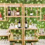 Wedding reception bar twinkle lighting RO & Co. Events Destination Wedding Planner