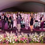 Wedding band stage decor floral RO & Co. Events Destination Wedding Planner
