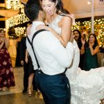 Bride and Groom dance floor twinkle lighting Empire Polo Club RO & Co. Events Destination Wedding Planner