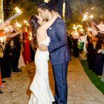 bride and groom wedding sparkler sendoff RO & Co. Events Destination Wedding Planner