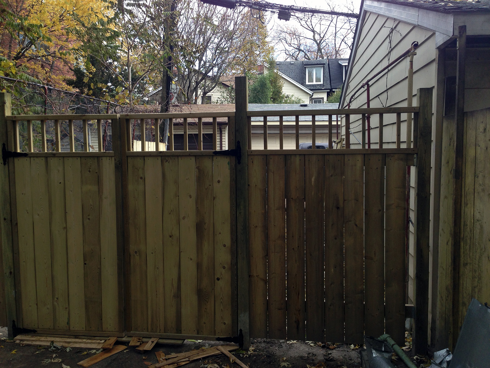 privacy fence and double gate