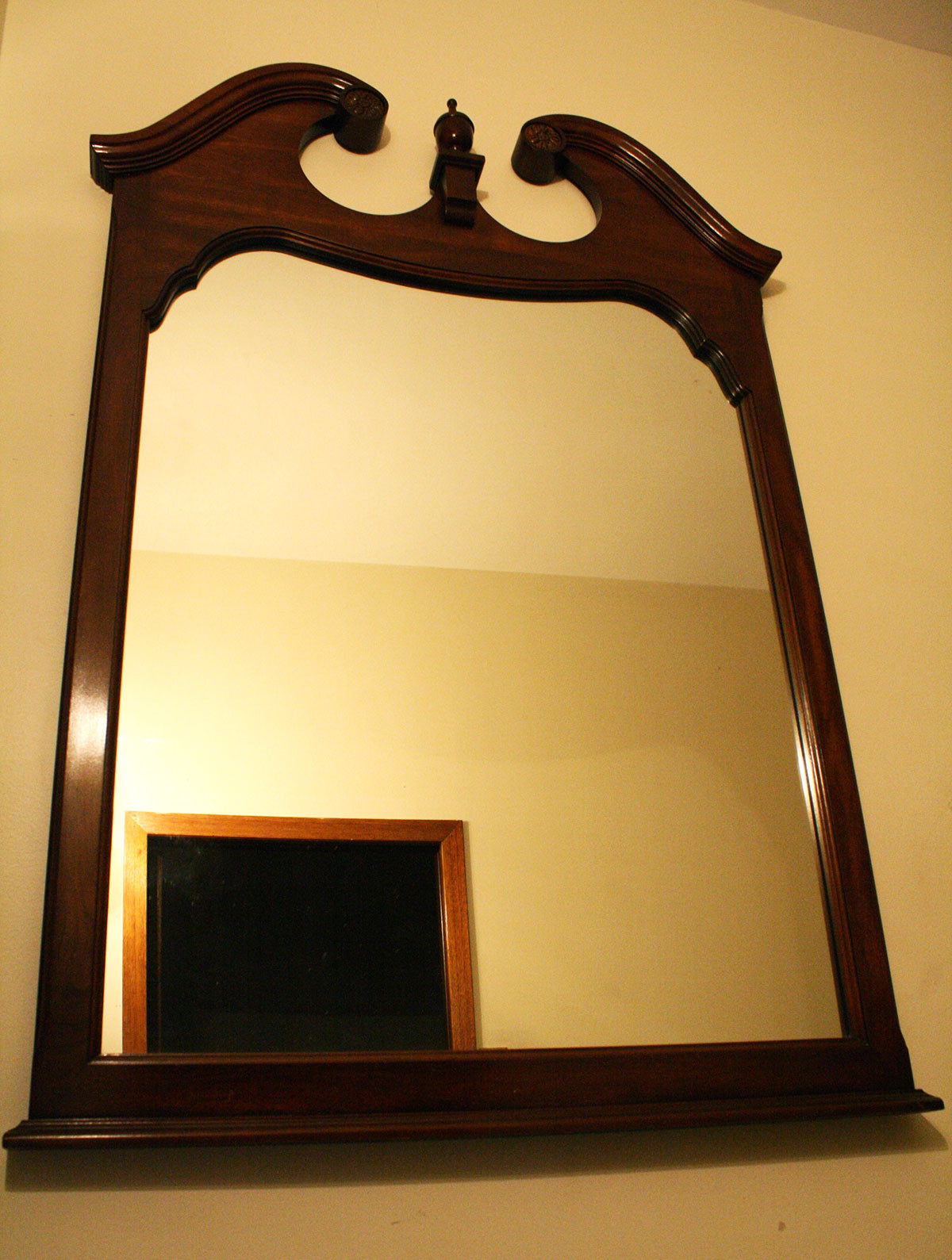 Mirror hanging on the wall