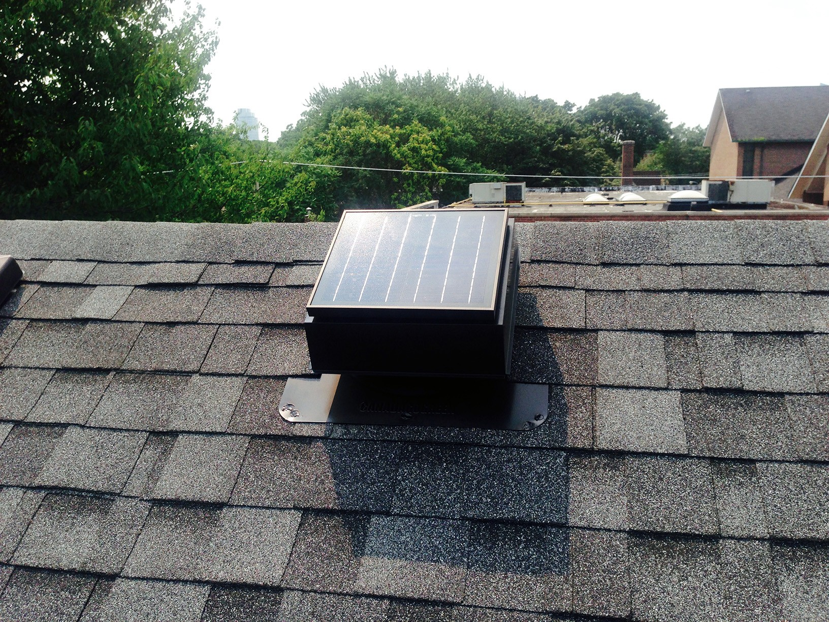new roof - solar vent