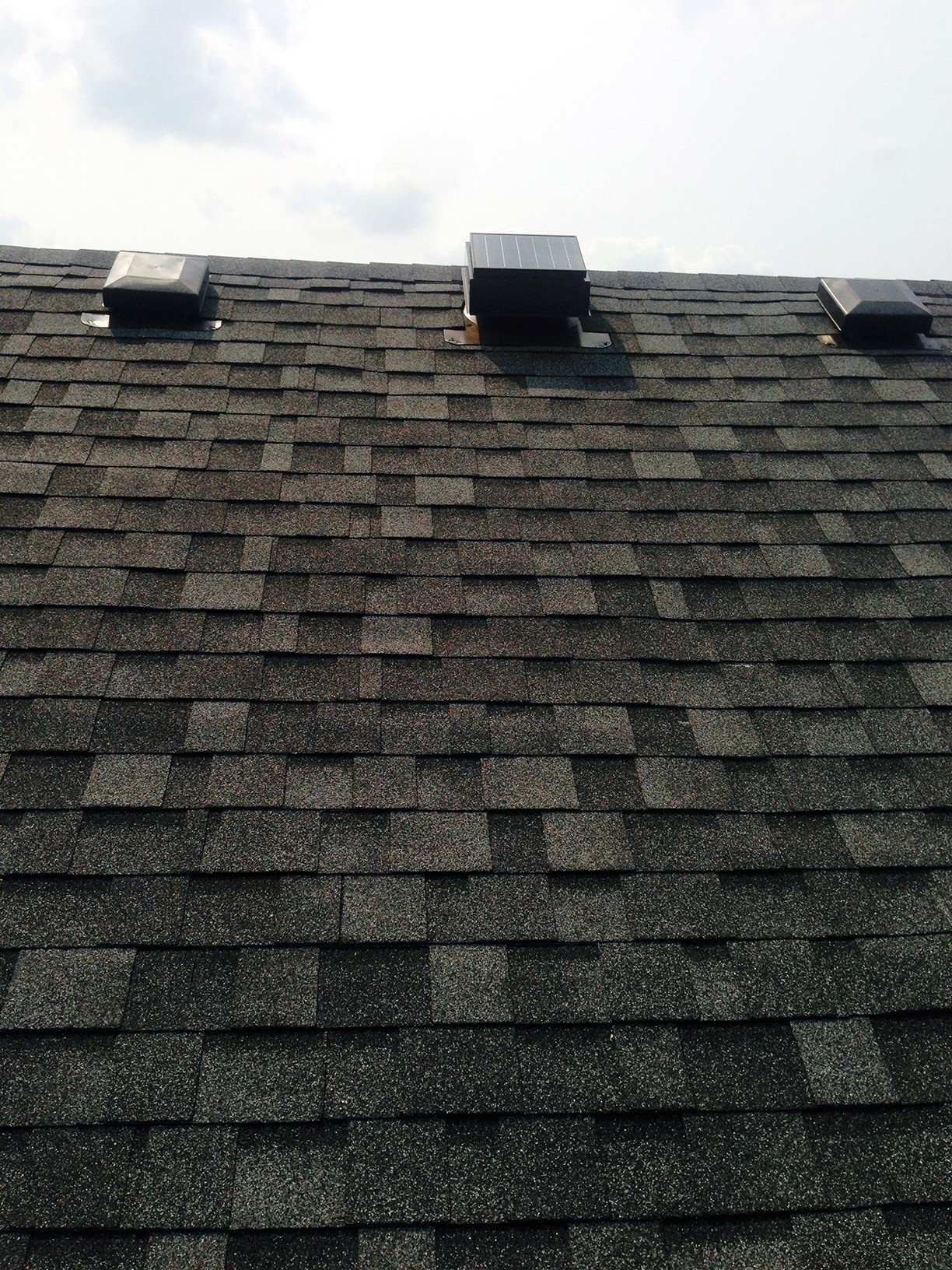 new roof - attic vents