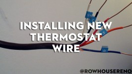 installing a new thermostat wire