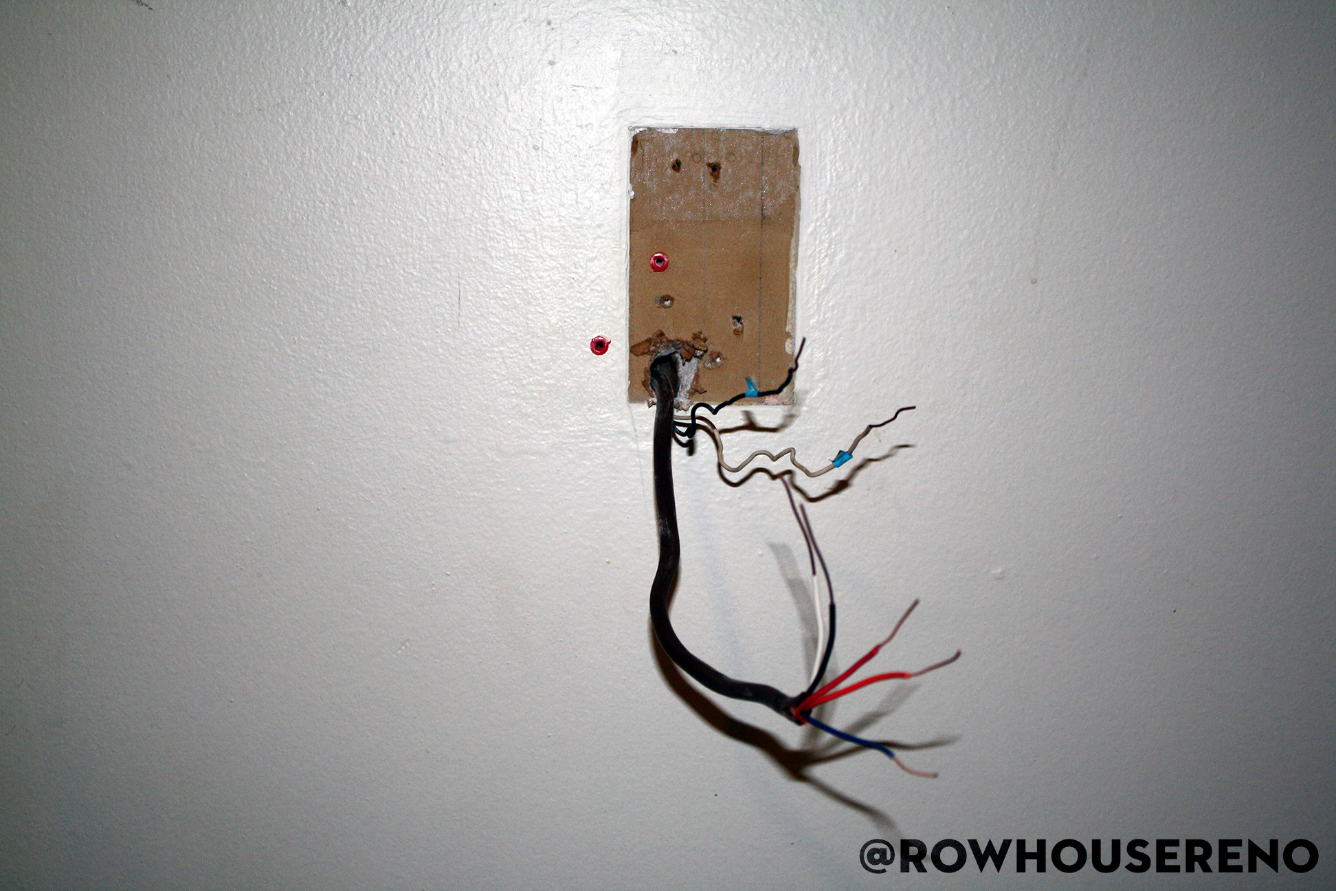 both thermostat wires coming out of the wall
