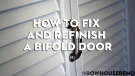 How to fix and refinish a bifold door
