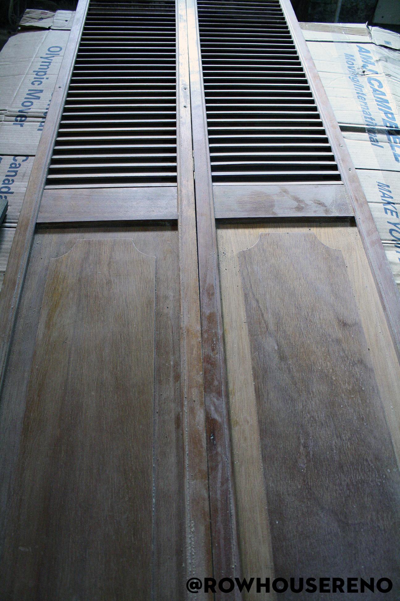sanding a bifold door