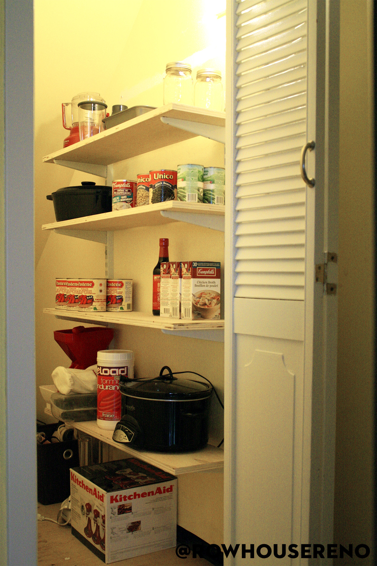 Finished DIY Pantry Shelves