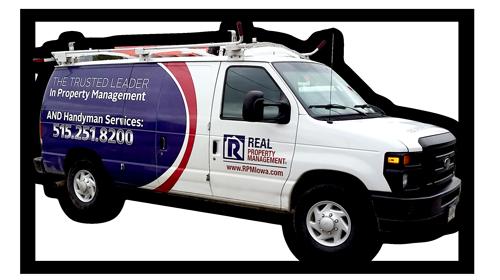 Real Property Management Des Moines Maintenance Truck