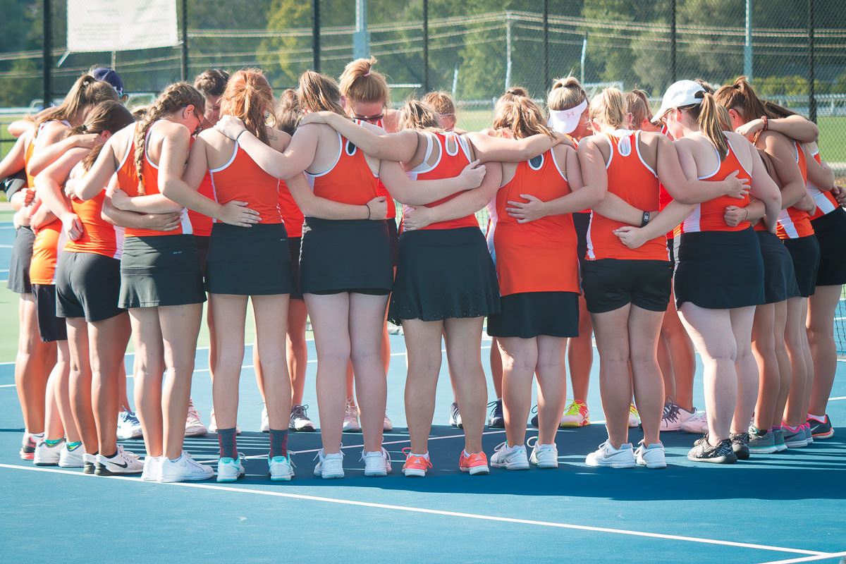 COC Sweep: Lady Tigers Tennis Finishes Perfect Conference Season