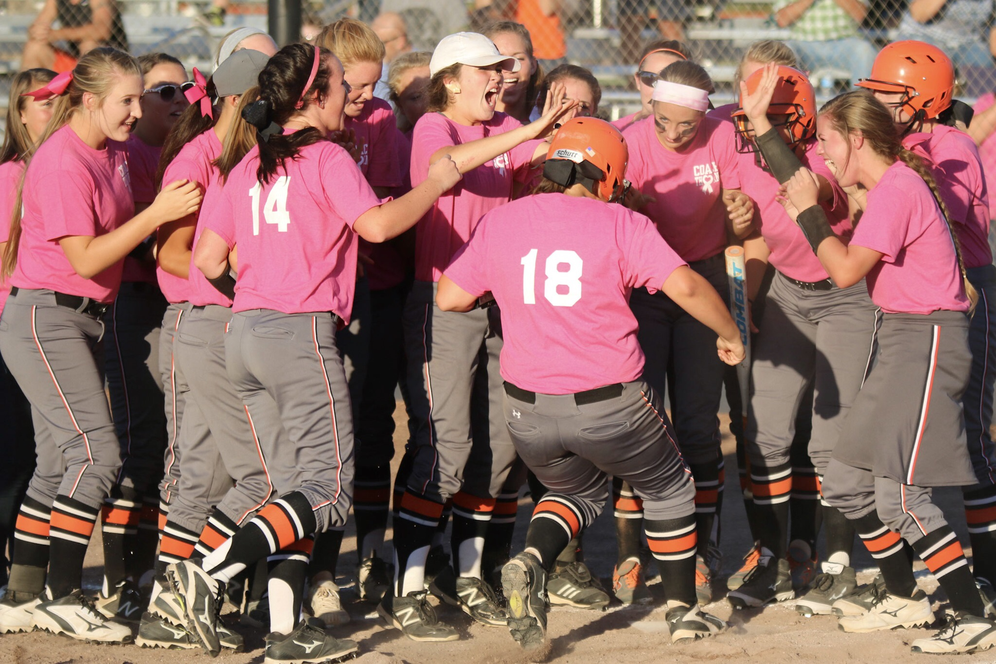 Pink Power: Lady Tigers Honor Former Coach, Finish Up With A Win