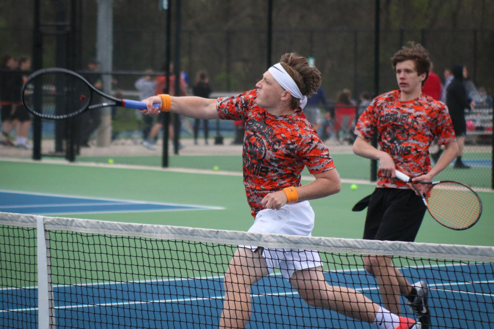 Back At It Again: Tennis Tigers Sweep Carthage In Opener