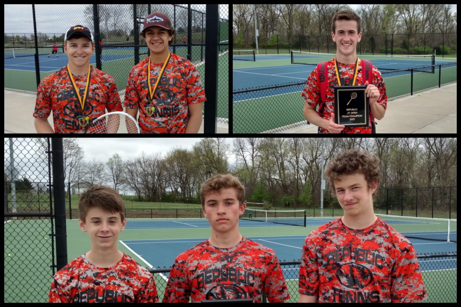 Carpenter Leads Tigers To JV Tennis Win